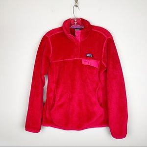 Patagonia M Retool Snap T Pullover Fleece Berry